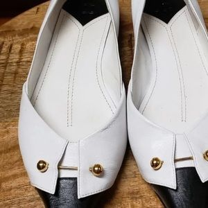 Vintage Chanel Tuxedo Style Black and White Flats